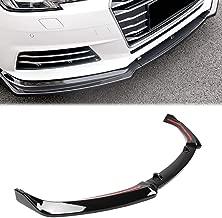 GZYF Front Bumper Lip Spoiler Splitter Body Kit Compatible with Audi A4 2017-2018(Aggressive Model), Glossy Black