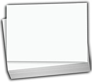 Hamilco White Cardstock Thick Paper - Blank Index Flash Note & Post Cards - Greeting Invitations Stationery 5 X 7