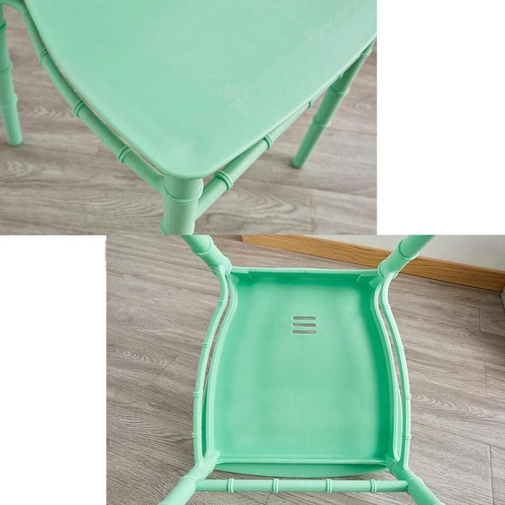 WYYY chaise de Bureau Chaises De Salle À Manger Moderne Chaises en Plastique Selles Dossiers Hauts Durable Fort (Couleur : Vert) Vert