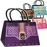 alles-meine.de GmbH 5 Stück _ 3-D Effekt _ Geschenktaschen / Geschenkbeutel -  Clutch - Damen Handtasche - Motiv-Mix  - Tasche Kinder Erwachsene - Geschenktüten / Geschenkverpa..