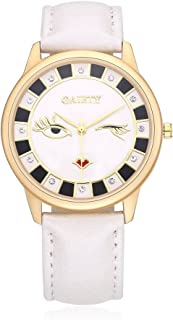 NAIVO Women's Quartz Watch with Gold Plated Stainless Steel Strap, White (Model: 1)