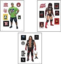Myesha Toys WWE Medium Size Stickers, John Cena The Champ is here, Finn Balor Demon King and Phenomenal AJ Style Sticker Pack of 3 Sticker Sheets (3 Big Stickers, 18 Small Stickers Total 21 Stickers)
