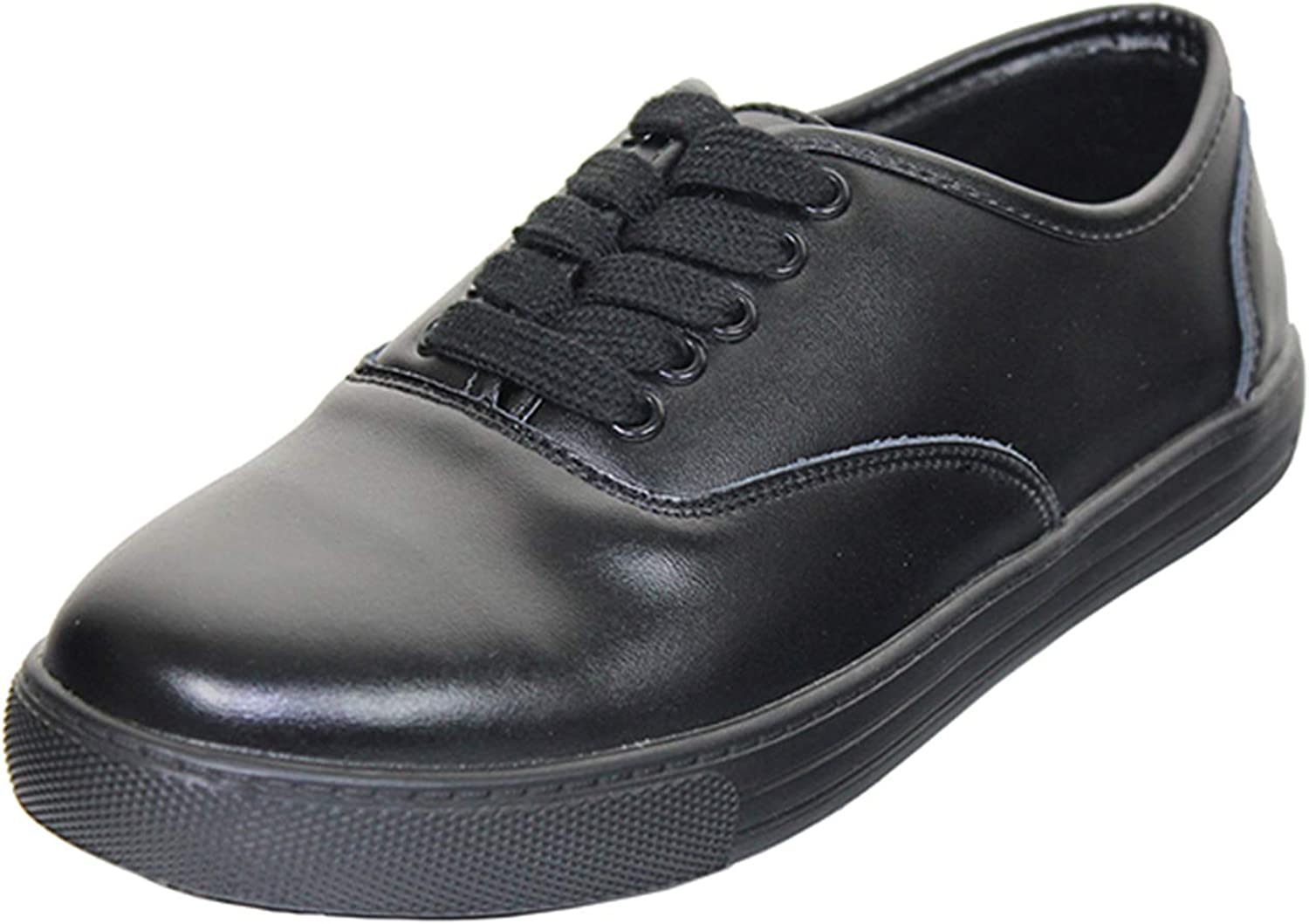 Tanleewa Slip Resistant Work Shoes for Women Leather Shoes Lightweight Casual Shoes Safety Shoes