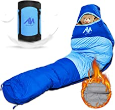 AYAMAYA Down Mummy Sleeping Bag [1200g Down Fill] Zero Degree for [Adults Up 6.5ft] Winter Cold Weather Waterproof Tall Lightweight Backpacking Camping Bag with Compact Sack for 4 Season Outdoor