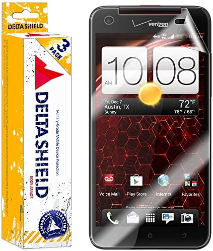 DeltaShield Screen Protector for HTC Droid DNA 3 Pack BodyArmor Anti Bubble Military Grade Clear product image