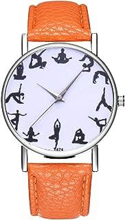 Women's Watch,Ladies Wrist Watches on Clearance,Women Watches,Roman Numerals Watch Women,Female Watch for Small Wrist (Orange)