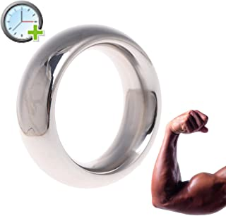 JINZHI 1PCS 40mm Stainless Steel Enhancer Ring Lock Sleeve Ring for Men Reusable -Time Delay - Smooth - Masculine Charm