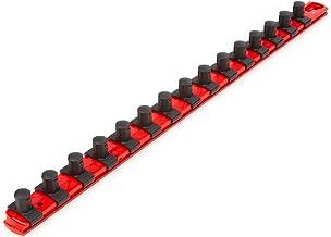 TEKTON OSR23115 - Barra de enchufe de 1,27 cm x 45,7 cm, 15 clips (rojo)