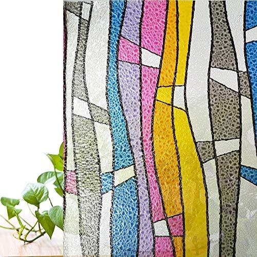 N / A Película de Ventana de protección de privacidad de Color Película de Vidrio estático teñido con láser 3D; Bar KTV vidrieras Decorativas A5 40x100cm