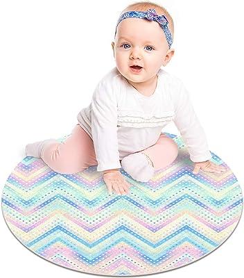 Muooum - Alfombra redonda con diseño de lunares en bajo poliéster, lavable, suave, absorbente, alfombra para salón, cocina, baño, alfombra