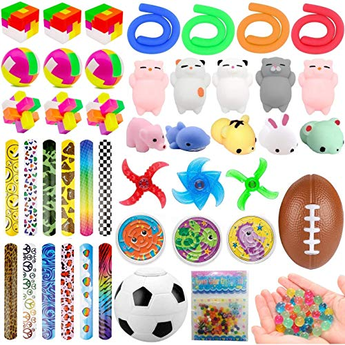 49 Pack Party Favors Toy Assortment for Kids, Treasure Chest, Pinata Filler, Treasure Box Prizes for Carnival Prizes, Classroom Rewards, Goodie Bag Fillers, Relieves Stress and Anxiety Fidget Toy for Children