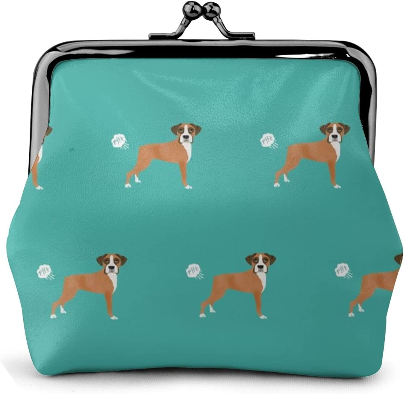 Boxer Dog Breed 1128 Coin Purse Retro Money Pouch with Kiss-lock Buckle Small Wallet for Women and Girls