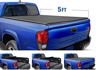 Tyger Auto T1 Roll Up Truck Tonneau Cover TG-BC1T9036 Works with 2005-2015 Toyota Tacoma | Fleetside 5' Bed | for Models with or Without The Deckrail System