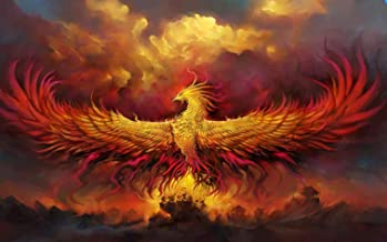 Puzzle 1000 Pieces Adult Puzzles Wooden Jigsaw-Red Phoenix-Art DIY Leisure Game Fun Toy Gift Suitable Family Friends