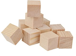 10pcs Naturelles Cubes De Bois Qure Embellissement Pour Les Bateaux 25x25x25mm