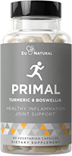Primal Joint Support & Healthy Inflammation – Immune Support, Whole-Body Flexibility, Active Mobility Men & Women – Turmer...