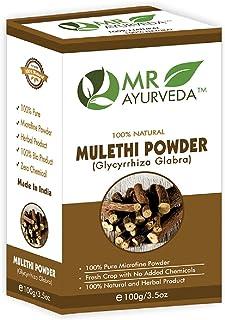 MR Ayurveda 100% Organic Mulethi Powder for Hair & Skin, 100 Gm