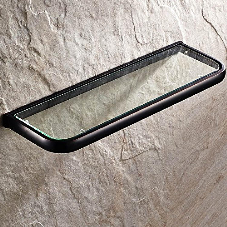 European copper antique bathroom single-layer glass shelf-@wei