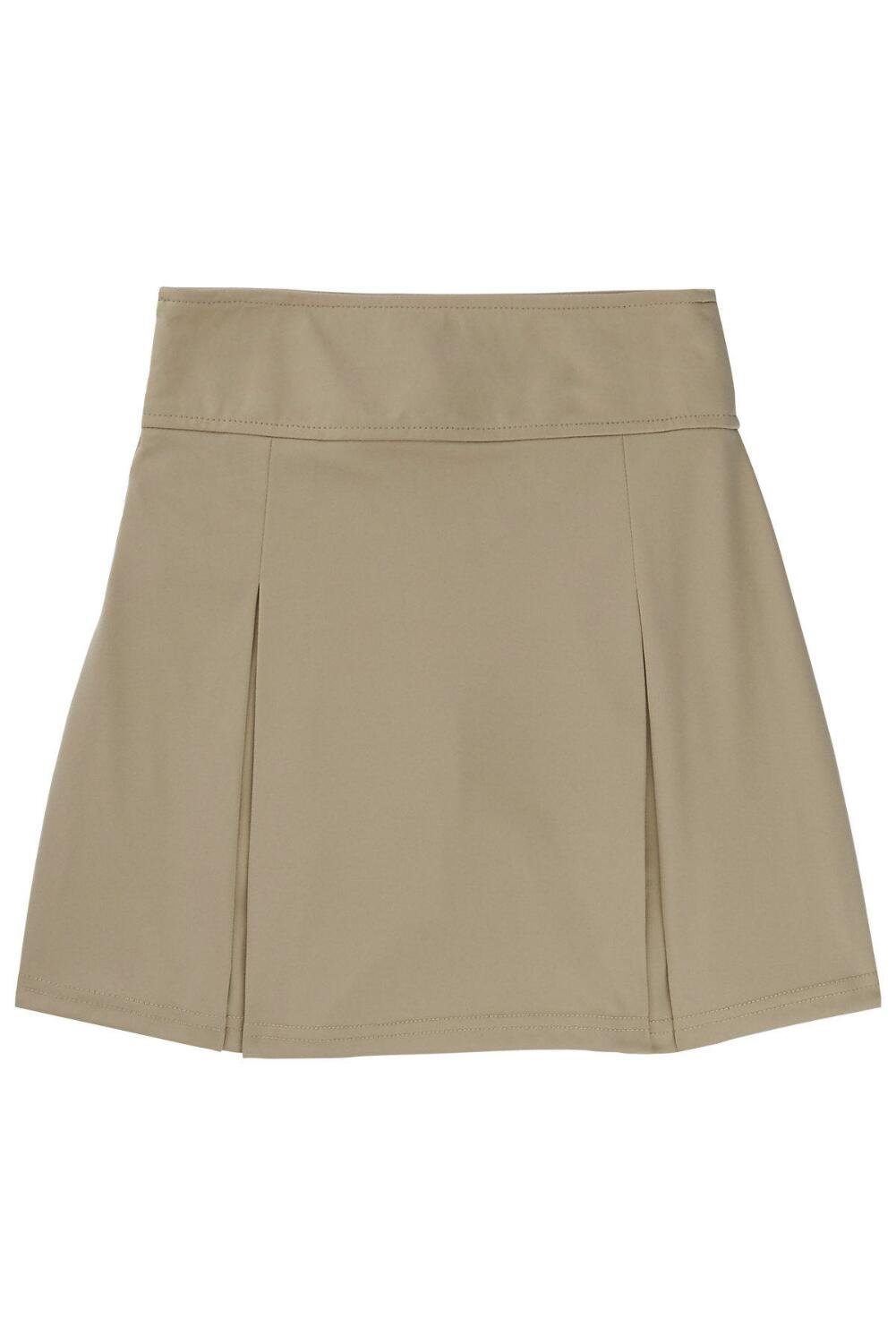 Khaki French Toast Girls Big Stretch Pull-On Tie Front Short 10
