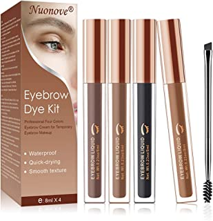 Waterproof Brow Gel, Tinted Brow Gel, Long Lasting Eyebrow Gel for Eyebrow Makeup, Sweat Resistant, Transfer Proof, Fills and Thickens Brows, 4 Colors