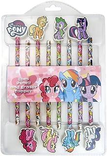 My Little Pony 8 pcs Pencil & Eraser Topper, Pink