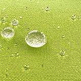 NOVELY Aragon Waterproof | Premium Outdoor Stoff | 100% dralon | Baumwoll-Optik | lichtecht | UV beständig: (19 Kiwi Lemon Grün)