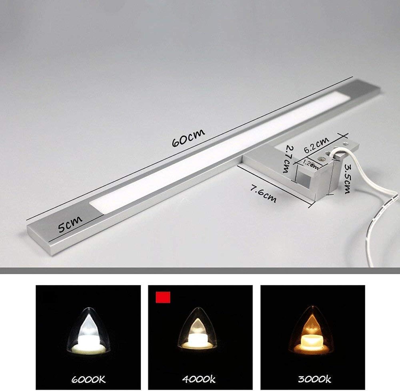 ZTMN Pride S LED-Spiegelschrankleuchten Aluminium Acryl Energieeffizienz A + (Farbe  Nature-10w60cm)