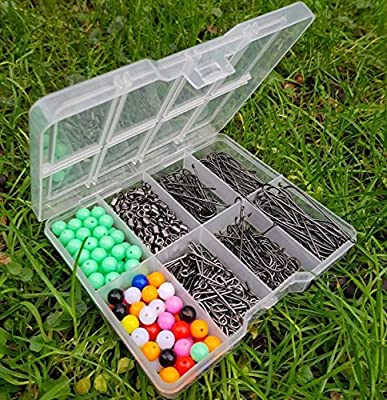 Sea Fishing Tackle Set Hooks Beads Swivels Bait Clips In Tackle Box Rig Making from RLF