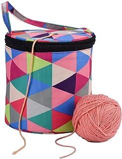 DIYARTS Sac à Tricoter Léger Portable Couleur Oxford Chandail Aiguille Organisation Package pour Stocker La Laine à La Mai...