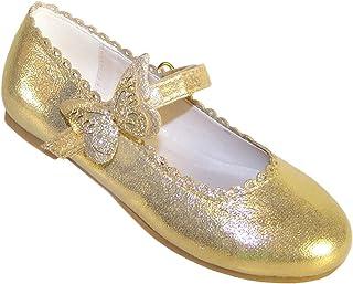 Zapatos de Bailarina Dorados con Adornos de Mariposas para niñas