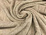 tela de rizo, color camel, tela de toalla, algodón 100%, albornoces, cambiadores, tela por metros, 1 metro x 160 cms, ENVIOS GRATUITOS