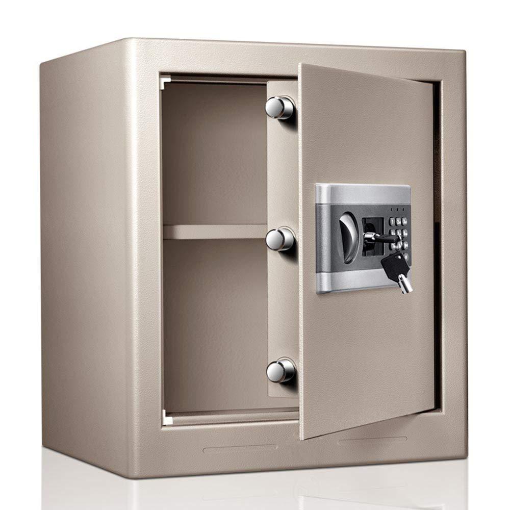 KPOON Caja Fuerte Caja Fuerte electrónica Doble Caja de Bloqueo de Teclas Digitales y contraseña Caja de Depósitos Seguros (Color : Silver, Size : 45x38x31cm): Amazon.es: Hogar