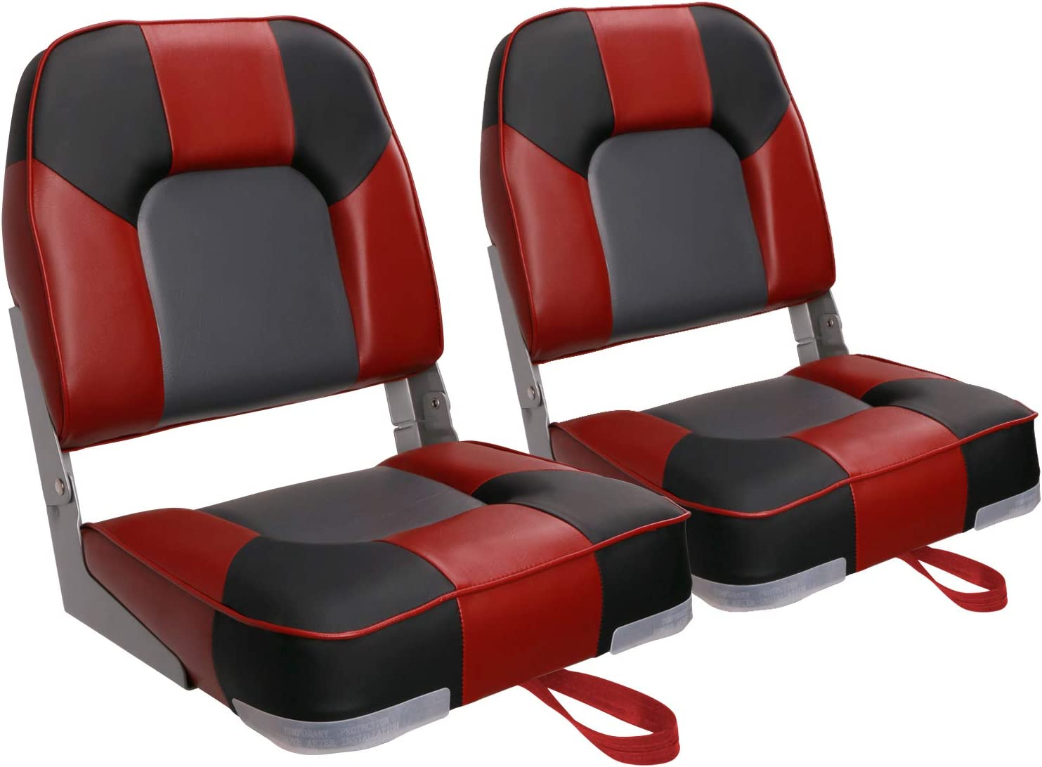 Leader Accessories A Pair of New San Francisco Mall Low Seats Back Boat S NEW Folding 2