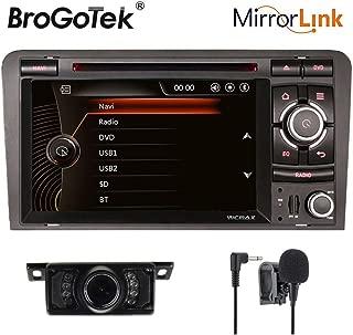 Estéreo de Coche para Audi A3 S4 RS3 IN Dash Video DIN Doble Video GPS Navgiation DVD CD Radio Bluetooth 3G USB SD para Audi A3 S3 RS3 7inch IPS capacitiva Pantalla táctil