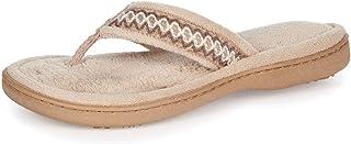 isotoner Women's Paulette Thong Slippers (Sandtrap, 7.5-8)