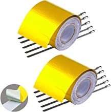 GOLD High Temperature Heat Defense Reflective Tape Adhesive Backed Heat Barrier Roll, 2