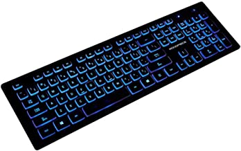 Monoprice Deluxe Backlit Keyboard�- Black, Ideal for Office Desks, Workstations, Tables - Workstream Collection