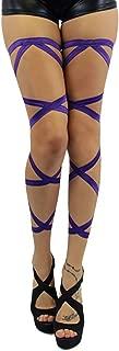 iHeartRaves Leg Wraps for Raves, Dancing, Music Festivals - Pair of Non-Slip Garter Set with Ribbons