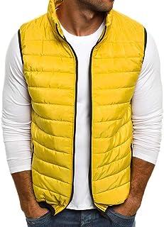 Amazon.co.uk: Men's Outerwear Gilets - Yellow / Gilets / Coats, Jackets &  Gilets: Clothing