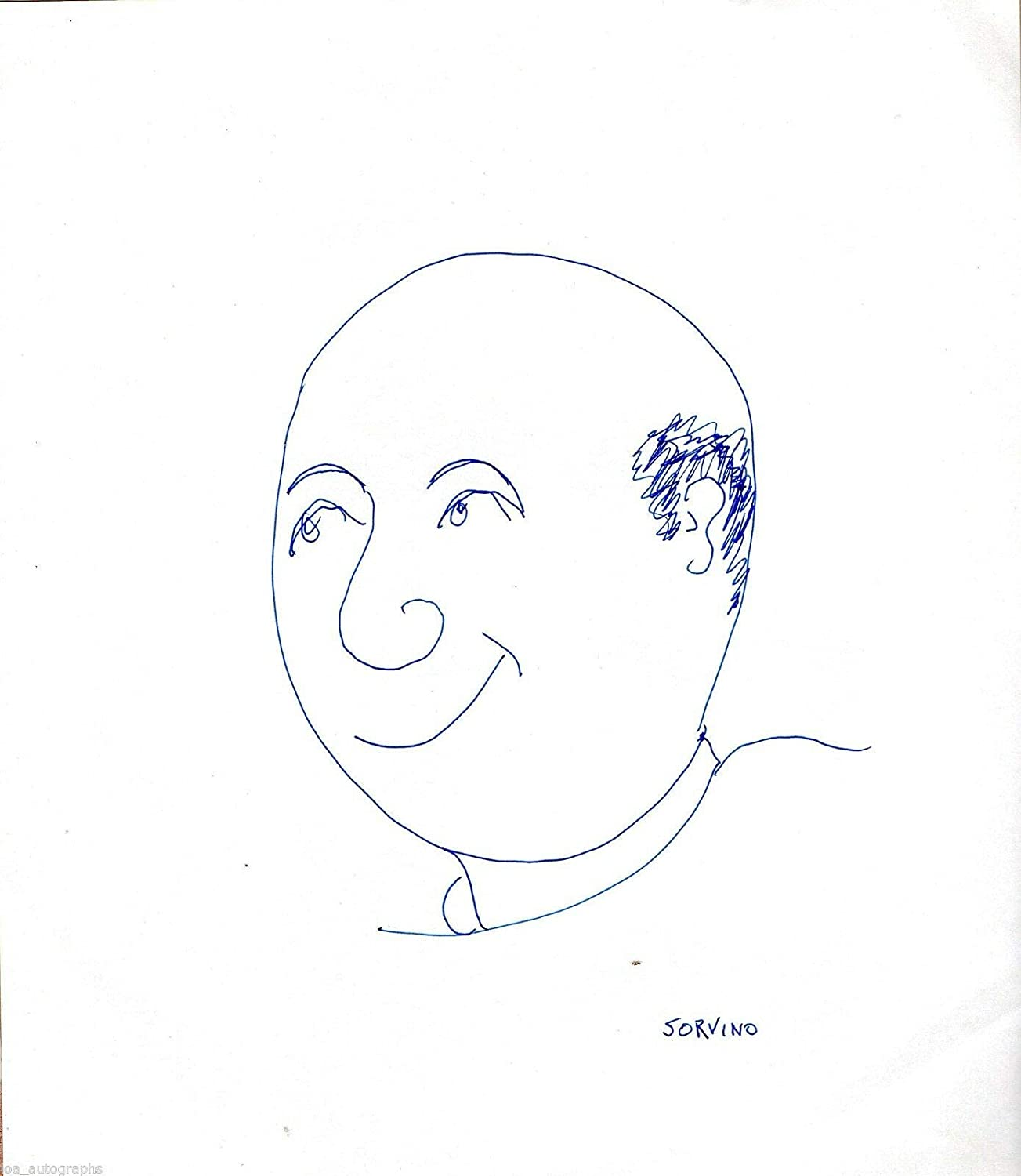 Credence Paul Sorvino set Beauty products of 2 hand RA sketch drawn sketches cartoon self