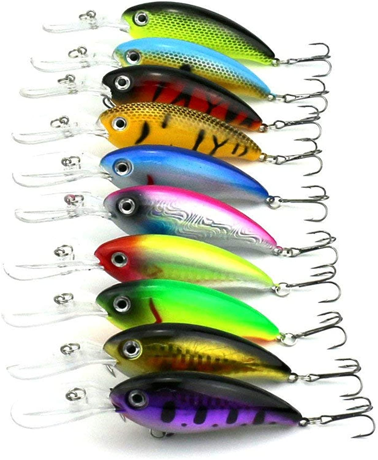 Promotion  Lot 10cs colors Fishing Lures Crankbait Minnow Hooks Crank Baits 10cm 14g Lure topwater