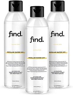 Marchio Amazon - find. Acqua micellare 3in1 per pelle normale (3x400ml)