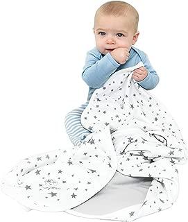 """Baby Blanket for Crib or Stroller, Merino Wool Blanket, 40"""" x 31.5"""", Stars"""