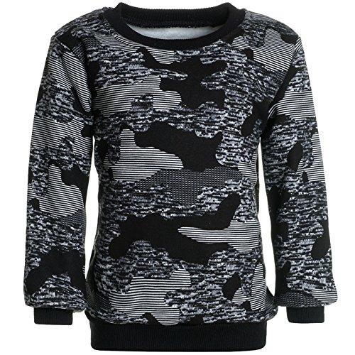BEZLIT Jungen Camouflage Pullover Sweatshirt Pulli 21521 Grau Größe 140