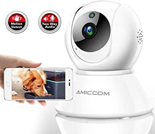 Pet Camera,Dog Camera 1080P HD 2.4G with 2 Way Audio Night Vision,Activity Alert,Support iOS/Android/Windows