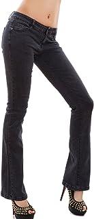 Toocool – Pantalones vaqueros para mujer, elásticos, con estampado de elefante, campana, cód. AF108