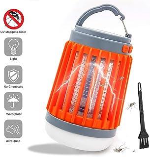 Lámpara Antimosquitos, Bug Zapper 3 en 1 LED Linterna de Camping UV Trampa de Insectos Luz de Tienda Portátil USB Recargable para Acampar al Aire Libre Interior Senderismo Pesca