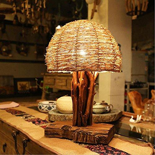 E27 artística de la naturaleza de la personalidad creativa sala de estudio lámpara de escritorio lámpara del dormitorio de la lámpara retro Inn estudio de confitería