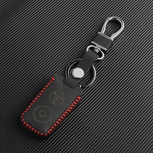 WJUKC Leather Key Cover,for Yamaha NVX155 QBIX AEROX JAUNS XMAX300 2 Button