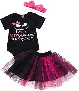 Kids Halloween Sets,Jchen Baby Kids Boys Girls Cartoon Nightmare Romper Tutu Skirt Dress Halloween Outfits for 0-18 Month